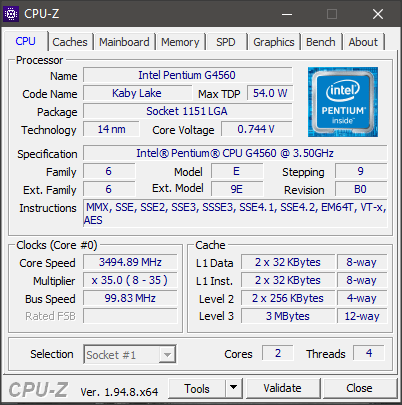 Cpu Spesifikasi Komputer Vip